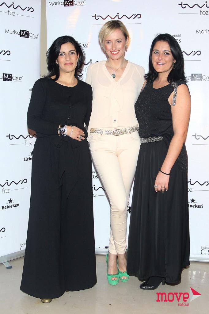 Alexandra Macedo, diretora da Best Models, com Marisa Cruz e Tânia Albuquerque, Head-Booker da Best Models