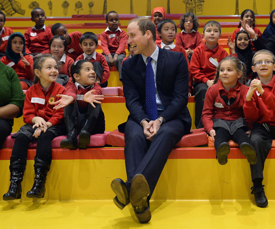 William na biblioteca de Birmingham