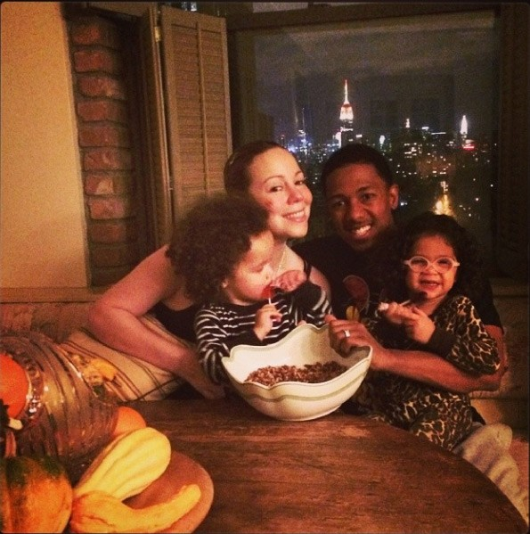 Mariah Carey e Nick Cannon com os filhos