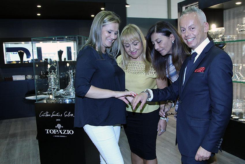 Bebé Moreira com as amigas Dina Rodrigues, Maria Clara Gomes e Isabel Silva