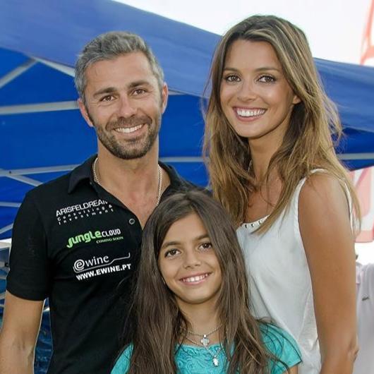 Maria Cerqueira Gomes com o marido Gonçalo Gomes e a filha Francisca.
