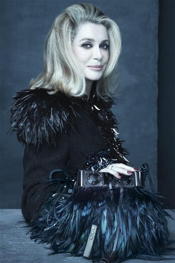 Catherine Deneuve para Louis Vuitton