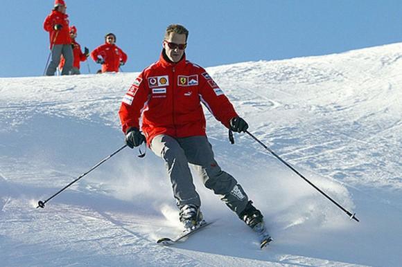 Michael Schumacher durante evento promocional da Ferrari (foto Ferrari F1)