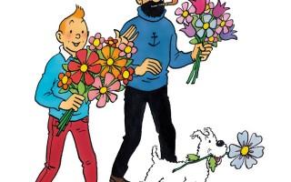 Tintin-Haddock-Snowy-Valentine