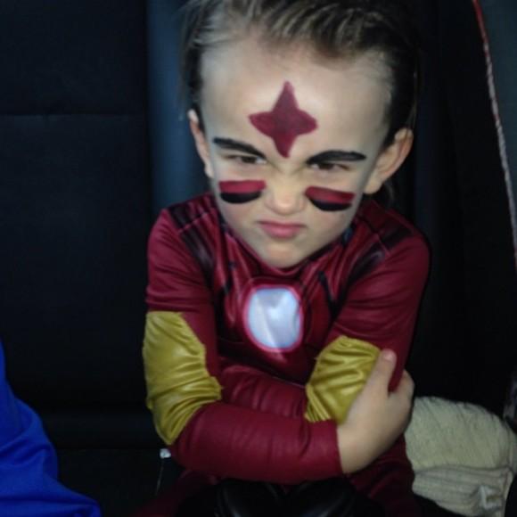 Já o filho mais novo de Marisa Cruz e João Pinto escolheu ser o Homem de Ferro