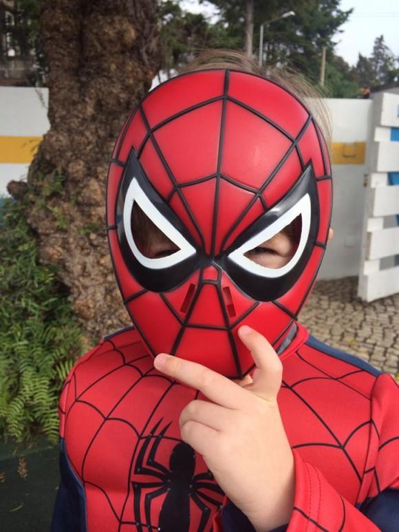 O filho de Rita Andrade quis ser o Homem Aranha
