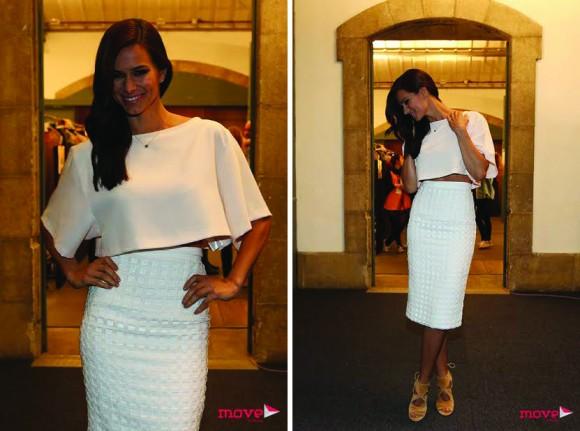 No 3º dia do evento a atriz optou por um look da jovem criadora Daniela Barros