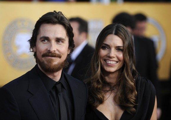 Christian Bale and wife Sibi Blazic arrive at the 17th annual Screen Actors Guild Awards in Los Angeles