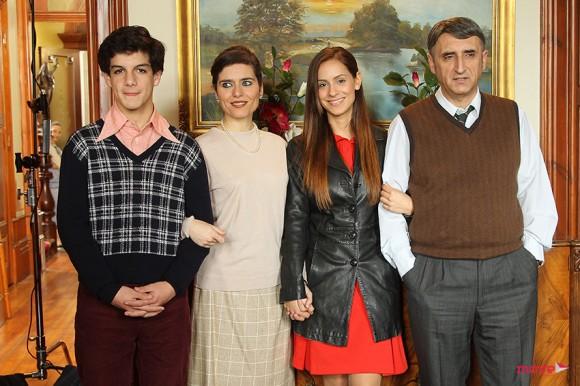 Mariana Monteiro com a sua família da série