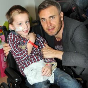 Jack com o cantor Gary Barlow