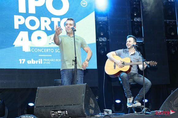 Pedro Alves atuou com João Paulo Rodrigues na gala do IPO-Porto