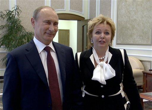 Vladimir Putin e a ex-mulher Lyudmila