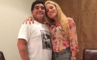 Maradona com a ex-namorada