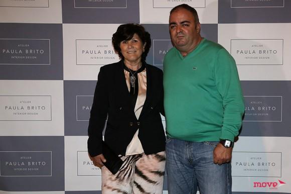 Dolores Aveiro com o companheiro José Andrade