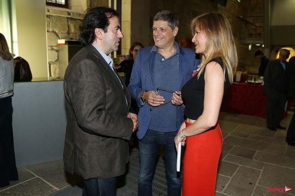 O chefe Hélio Loureiro com Zé Pedro e Cristina Avides Moreira