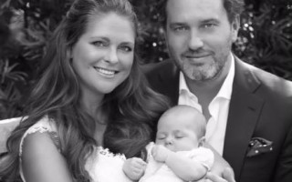 A princesa Madalena e o marido, Chris O' Neill, deram as boas-vindas a Leonore em fevereiro