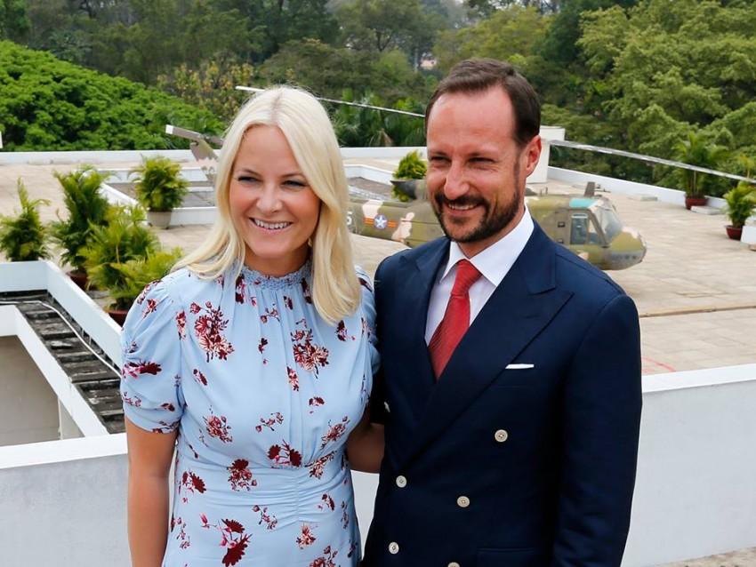 Os príncipes Mette-Marit e Haakon
