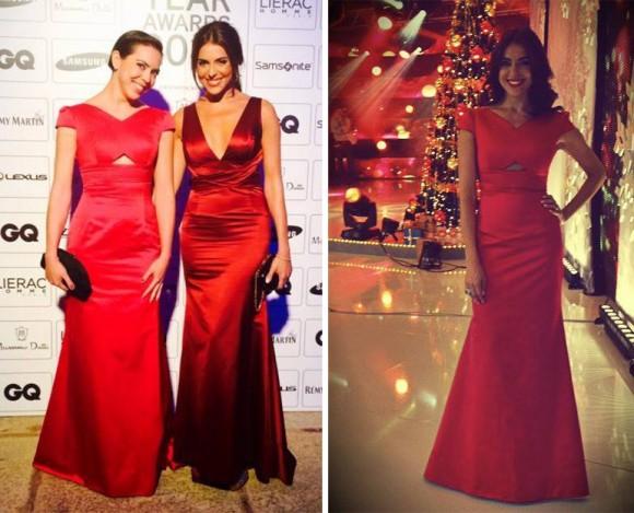 À esquerda Catarina Furtado com a irmã e à direita a apresentadora com o mesmo modelo de Nuno Baltazar