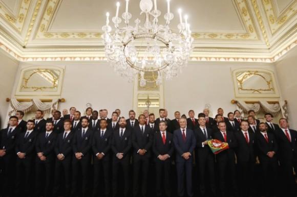 Cavaco Silva recebe Seleção_foto de grupo