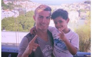 Cristiano com o pai