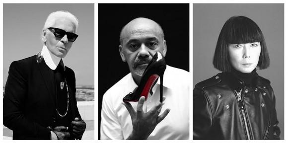 Karl Lagerfeld, Christian Loboutin, e Rei Kawakubo