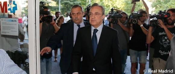 Florentino Pérez visitou Di Stéfano no hospital