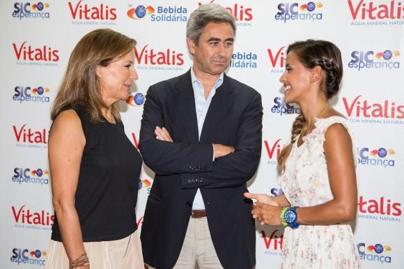 Mercedes Balsemão, presidente da SIC Esperança, Rui Freire, administrador de Marketing da Unicer, e Carolina Patrocínio