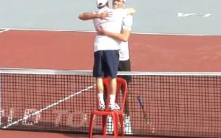 abraço tenistas