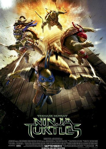 cartaz tartarugas ninja