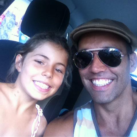 Francisco Mendes com a filha, Anamar