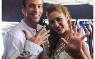 O cantor e Ana Cardoso