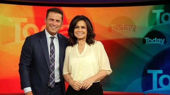 Karl Stefanovic com a colega  Lisa Wilkinson