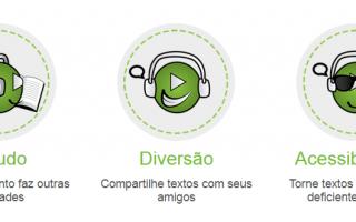 texto audio