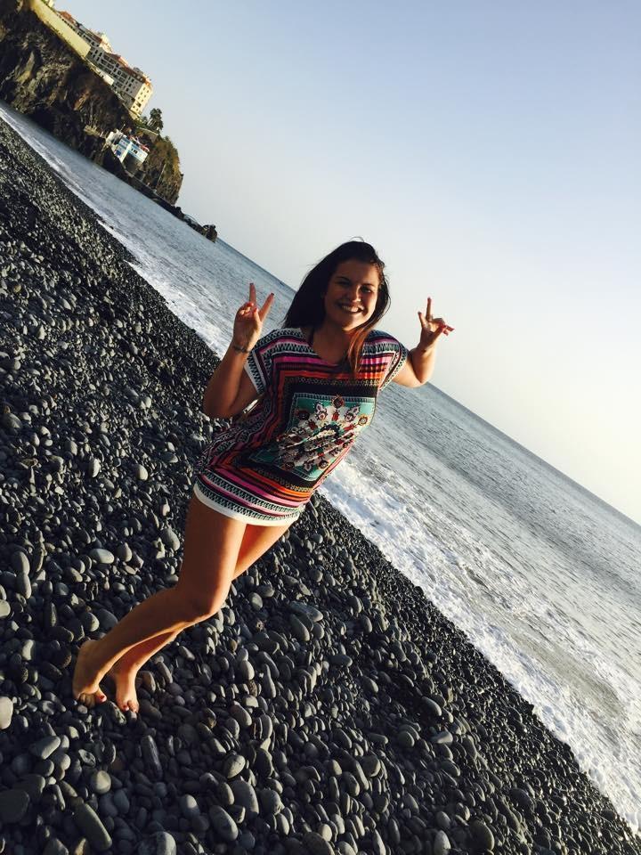 """Irma de CR7 do Funchal: """"Primeiro mergulho do ano no Mar da minha ilha agora sim bateria carregada energia renovada sensação boa....KA"""""""