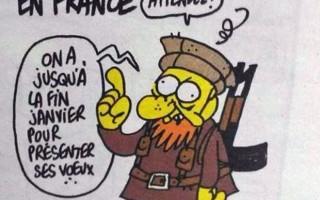 Ilustração mais recente de Charb, morto no ataque à revista Charlie Hebdo