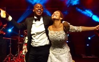 Fernanda Souza e Thiaguinho subiram ao altar em fevereiro.