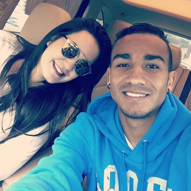Danilo e Clarice deram as boas-vindas a Miguel.