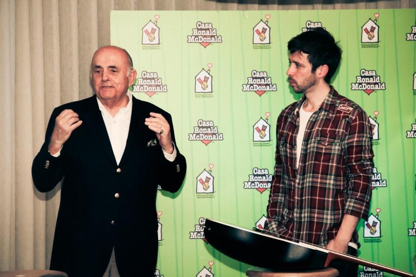 João Sá Nogueira, Diretor Executivo da Fundação Infantil Ronald McDonald, com Paulo Vintém