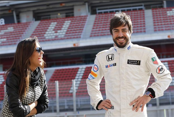 Fernando Alonso Agradece 224 Namorada Movenot 237 Cias