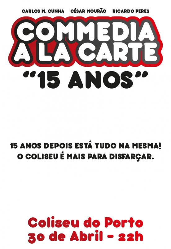 comedia cartaz