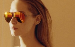 A visual from Victoria Beckham's eyewear collection.