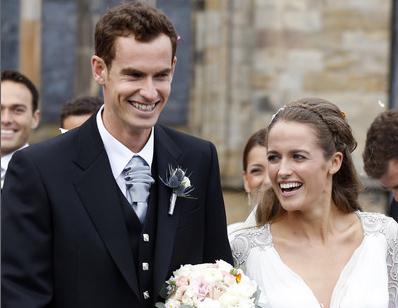 O tenista Andy Murray casou-se com Kim Sears, em Abril, na Escócia.