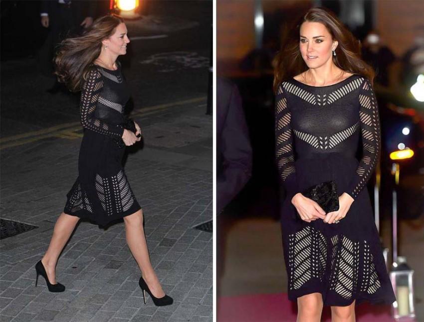 Com um vestido Temperley London
