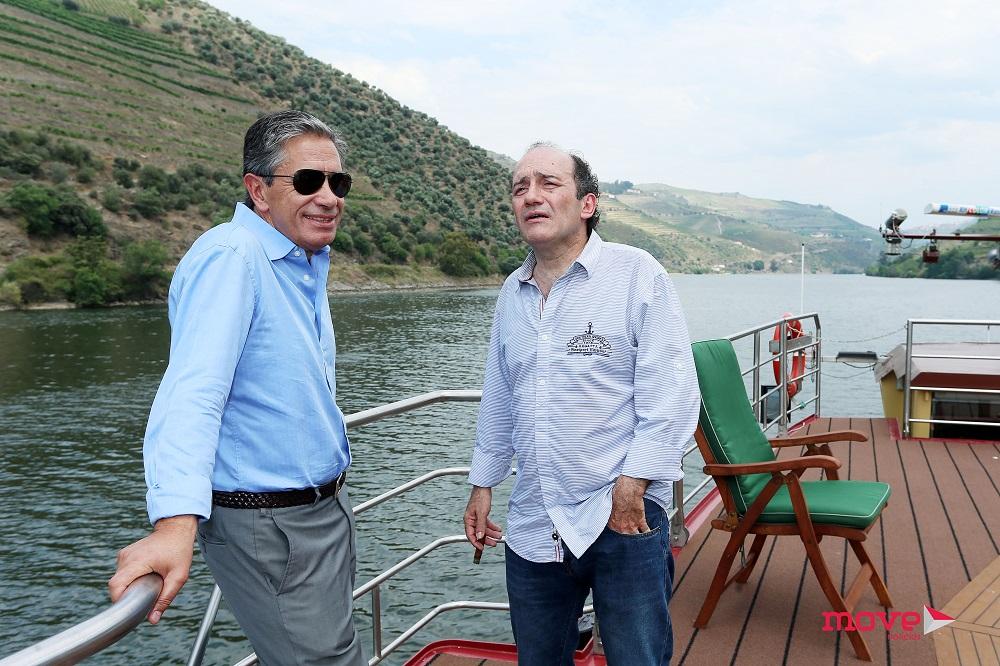 O ator com Luís Marques,  diretor-geral da SIC