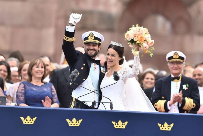 O príncipe Carlos Filipe e Sofia Hellqvist protagonizaram um enlace romântico em junho, em Estocolmo.