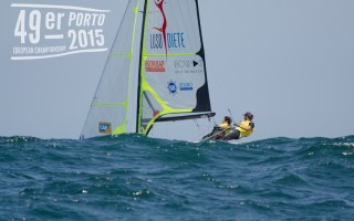 Day 1 of the 49er Europeans Porto 2015