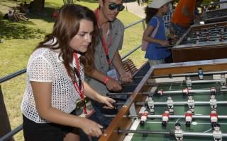 Ana Guiomar e Paulo Vintêm a jogar matraquilhos