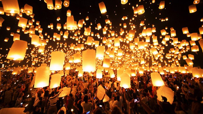 Novembro - Banguecoque - Tailândia - Temperaturas pouco abaixo dos 30 graus e pode assistir ao  festival Loi Krathong.