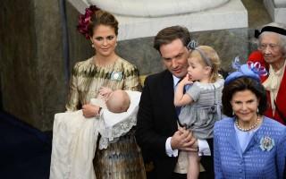 A princesa Madalena e Chris O' Neill foram apis de um menino: Nicolas.