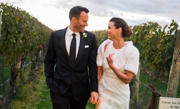 """Bridget Moynahan deu o """"nó"""" com Andrew Frankel  em outubro, nos Hamptons (Nova Iorque)"""
